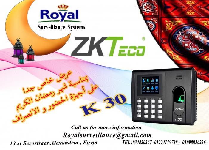 بمناسبة شهر رمضان الكريم جهاز حضور وانصراف ماركة  ZKTECO موديل K30 480447137