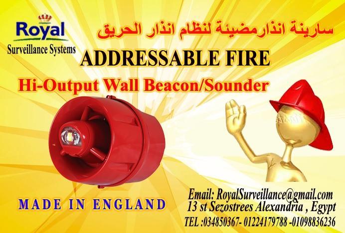 سارينة أنذارمضيئة لنظام الحريق Addressable انتاج انجليزى 558458177